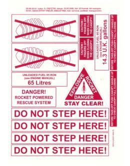 FOGLIO ADESIVI Do not step here e Paracadute