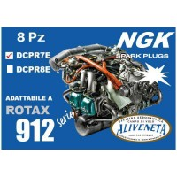 SET OF SPARK PLUG FOR ROTAX 912 UL NGK DCPR7E