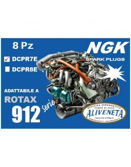 KIT CANDELE ROTAX 912 UL NGK DCPR7E
