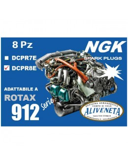 KIT CANDELE ROTAX 912 ULS NGK DCPR8E